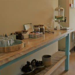 פינת קפה, תה צמחים ועוגיות