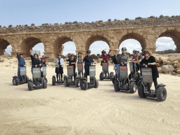 טיול סגווי בקיסריה